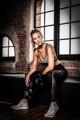 Fitness fotoshoot met model